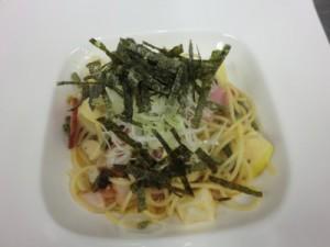 山菜とゆずごしょうの和風パスタ